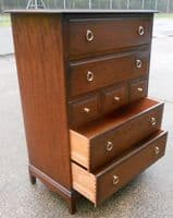 Stag Minstrel Tall Mahogany Chest of Drawers - SOLD